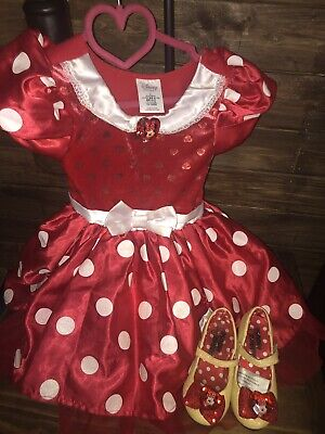 Disney Store Minnie Mouse Costume /Dress Size 3T And Shoes/Heels 7/8 • 20$