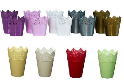Flower Pots, Choice Of 9 Colours, Many Sizes Plant Holder ,crown Shaped,plastic • 5.79£