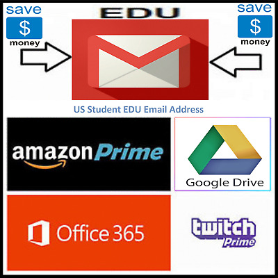 $1.79 • Buy Edu Email (Amazon Prime 6 Month Unlimited Google Drive US Student Mail)