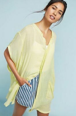 $ CDN33.01 • Buy Anthropologie Large Saturday/Sunday Kendra Oversized Tunic Shirt Chartreuse #691