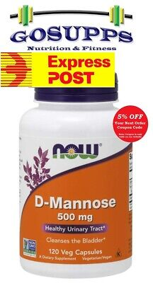 AU38.95 • Buy Now Foods D-Mannose 500 Mg 120 Veg Caps Urinary Tract Health UTI FREE EXP POST