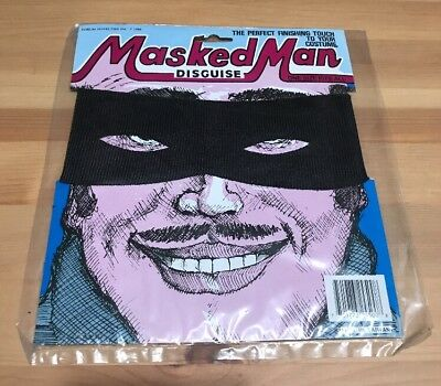 $ CDN2.48 • Buy VTG 80's MASKED MAN Disguise Halloween COSTUME BLACK 1986 One Size Fits All NEW!