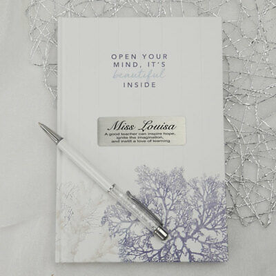 AU30 • Buy Personalised Teacher Journal Diary - Hamptons - Thank You Gift
