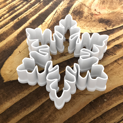 £3.89 • Buy Professional Quality Snowflake Shape Cookie Cutter Biscuit Dough Christmas UK 5