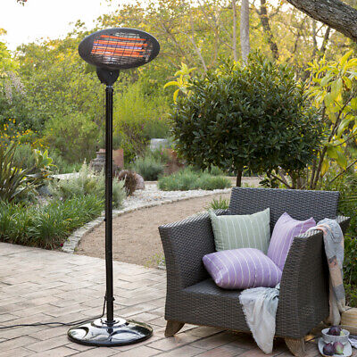 Firefly Freestanding Garden Patio Heater & FREE COVER 2kW Outdoor 3 Settings • 39.99£
