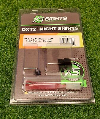$119.99 • Buy XS Sights DXT2 Big Dot Night Set S&W M&P Full Size/Compact, Yellow - SW-0029S-5Y