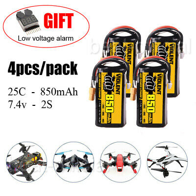 $ CDN34.43 • Buy 4PCS 850mAh 25C 7.4V 2S LiPo Battery XT60 Plug For RC FPV Quad Drone Heli Car