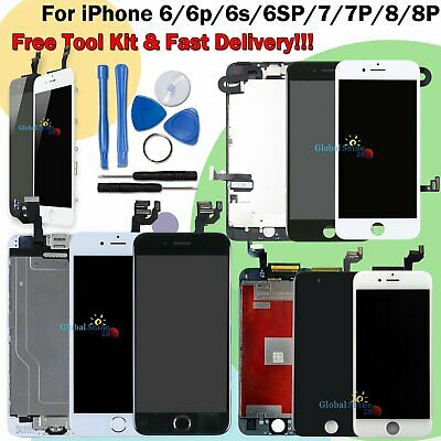 For IPhone 6 6S 7 8 Plus LCD Screen Touch Digitizer Assembly Replacement Camera • 24.59£