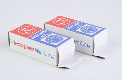$11.95 • Buy 2X BOXES OF 3ea. WESTINGHOUSE FLASH CUBES (TOTAL 24 FLASHES)