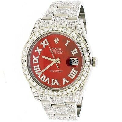 $ CDN20976.93 • Buy Rolex Datejust II 41mm Steel Ruby Red MOP Dial 11CT Diamond Box Papers