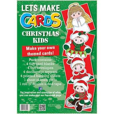 Children Christmas Kids Lets Make Cards  Cut Create Decoupage Full Sealed Kit • 4.82£