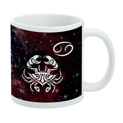 $14.99 • Buy Cancer Crab Zodiac Sign Horoscope In Space White Mug