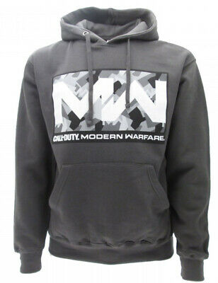 £56.57 • Buy Sweatshirt Call Of Duty Modern Warfare Original Official Black Hood Logo Mw