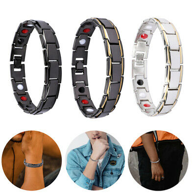 Men Women Therapeutic Energy Healing Magnetic Bracelet Therapy Arthritis Hot! • 6.11$