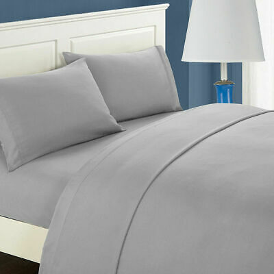 Premium Bedding Collection 600 TC Egypt Cotton All Size Silver/Light Gray Solid • 43.49£