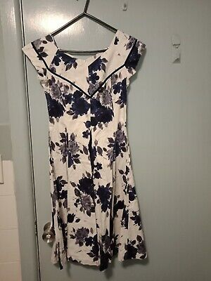 AU55 • Buy RetroSpec'd Clothing Navy And White Dress In Size 8
