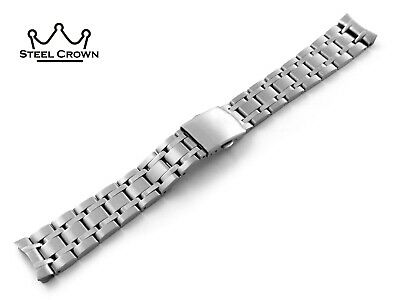 19mm For Omega Watch Stainless Steel Bracelet Strap Band Silver De Ville  • 30.90£