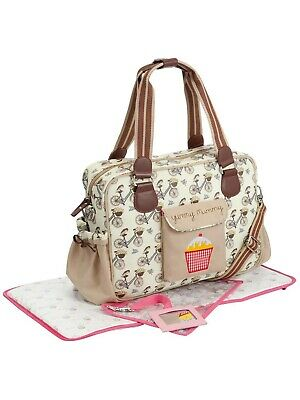 Brand New Pink Lining Yummy Mummy Baby Changing Nappy Bag In The Mews Bicycle • 35£