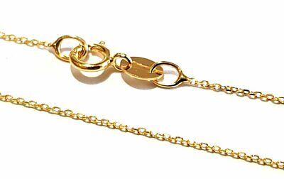 9ct GOLD TRACE ANCHOR LINK NECKLACE - 0.8mm - VARIOUS LENGTHS AVAILABLE • 35.19£