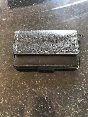 Jane Shilton Black Leather Purse • 6£