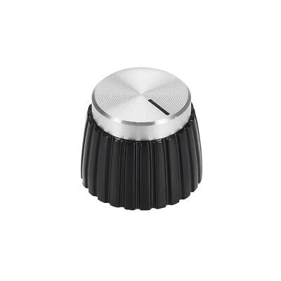 $ CDN10.29 • Buy Potentiometer Knob Amplifier Knob Black With Silver Tone Cap Volume Control Knob