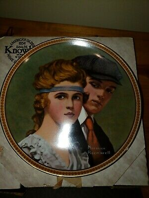 $ CDN11.24 • Buy Norman Rockwell Plate By Edwin M  Knowles 1983  Meeting At The Path