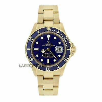 $ CDN35327.08 • Buy Rolex Submariner 16618 Men's Blue Yellow Gold 40mm Automatic 1 Year Warranty