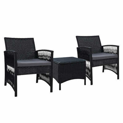 AU197.72 • Buy Gardeon Patio Furniture Outdoor Bistro Set Dining Chairs Setting 3 Piece Wicker