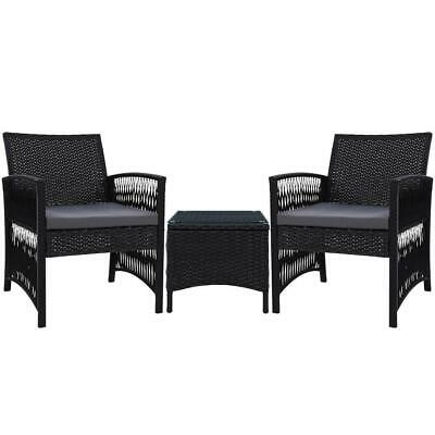 AU206.06 • Buy Gardeon Patio Furniture Outdoor Bistro Set Dining Chairs Setting 3 Piece Wicker