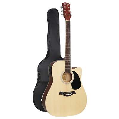 AU94.07 • Buy Alpha 41  Inch Electric Acoustic Guitar Wooden Classical EQ With Pickup Bass Nat
