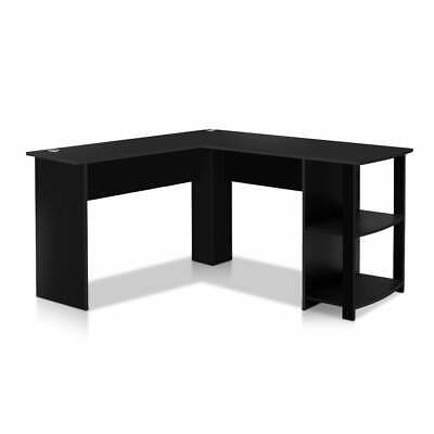 AU151.46 • Buy Artiss Office Computer Desk Corner Student Study Table Workstation L-Shape Black