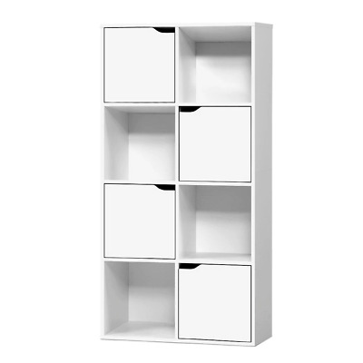 AU78.13 • Buy Artiss Display Shelf 8 Cube Storage 4 Door Cabinet Organiser Bookshelf Unit Whit