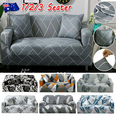 AU34.99 • Buy High Stretch Sofa Cover Couch Lounge Protector Slipcovers 1 /2 /3 Seater Covers