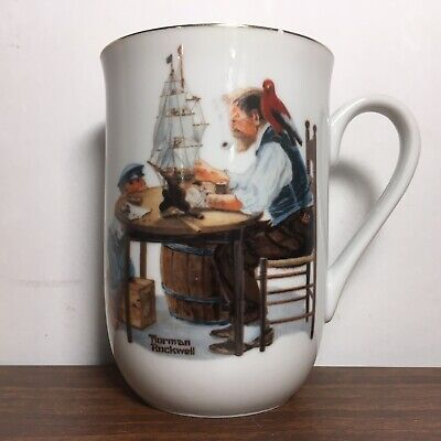 """$ CDN6.26 • Buy Norman Rockwell Museum """"For A Good Boy"""" Mug Cup 1982 Authentic Vintage White"""