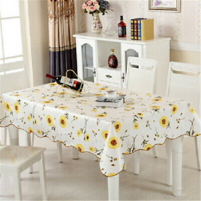 AU25.99 • Buy Waterproof Oil Proof PVC Table Cloth Cover Home Dining Kitchen Tablecloth