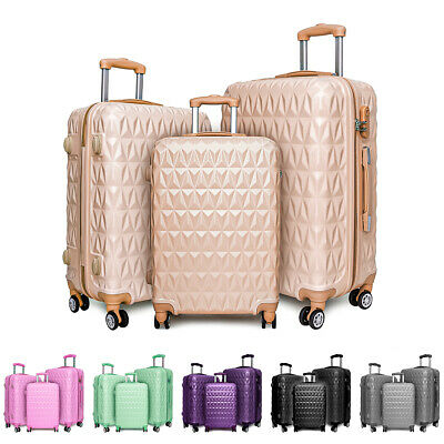 Hard Shell PC+ABS Cabin Suitcase 4 Wheel Travel Luggage Trolley Lightweight Case • 84.99£