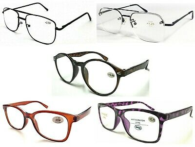 Classic Popular Large Lens Reading Glasses/Metal Or Plastic Frame/Comfort Specs^ • 4.49£