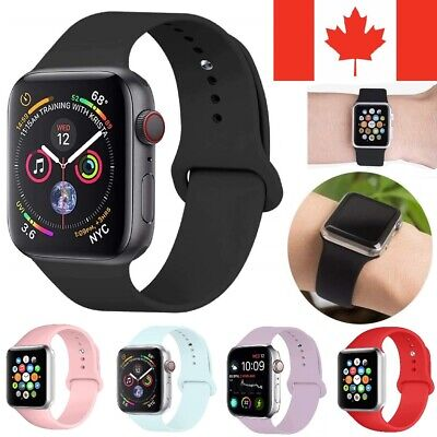 $ CDN5.99 • Buy Replacement Silicone Sport Band Loop Strap For Apple Watch Series 5 4 3 2 1