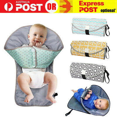 AU14.49 • Buy Waterproof Portable Baby Diaper Travel Home Change Changing Mat Pad Nappy Bag AU