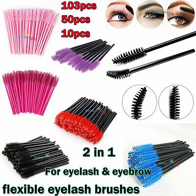 Eyelash Brushes 50 103 PCS Disposable Mascara Wands Lash Extension Applicator UK • 1.59£