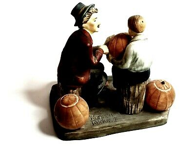 $ CDN35.03 • Buy Norman Rockwell Four Seasons Gorham Porcelain Grand Pals Fall Ghostly Gourds#809