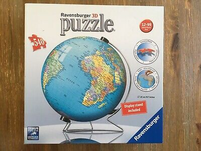 $28.50 • Buy 3D Earth Puzzle Ravensburger Globe World Map With Stand Complete!