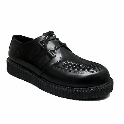 Brothel Creepers | Womens Nevermind Black Leather Haley Single Sole | Creepers • 39.95£