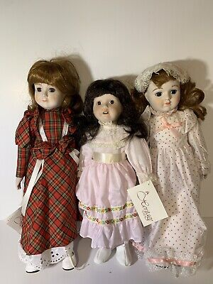 $ CDN50.62 • Buy Lot Of 3 Heritage Porcelain Dolls Musical Wind Up