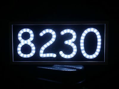 Led Address Sign Routed/engraved Back Lit Lighted Sign House Number Plaque  • 70.34£