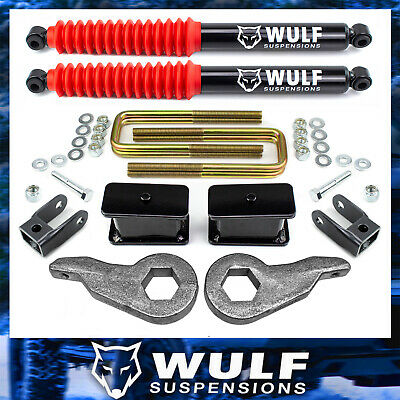 $303.69 • Buy WULF 3  Front 3  Lift Kit W/ Shock For 99-07 Chevy Silverado GMC Sierra 1500 4X4