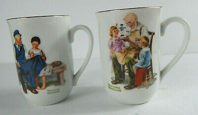 $ CDN38.23 • Buy Vintage 1982 Norman Rockwell Museum Coffee/Chocolate Mugs/Cups Set Of 2