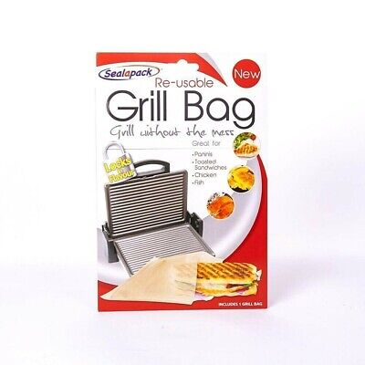 Reusable Grill Bag Paninis Toasted Sandwiches Chicken Fish • 3.49£