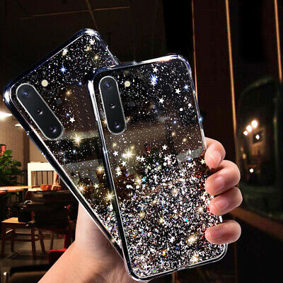 $ CDN4.68 • Buy For Samsung Galaxy Note 10+ S10 S9 S8 Plus Bling Glitter Silicone TPU Case Cover