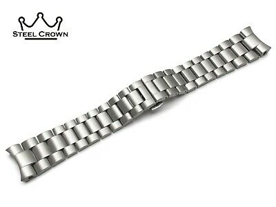 24mm For Omega Watch Stainless Steel Bracelet Strap Band Silver  • 35.90£